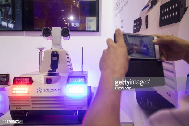 My Robot Time Co Line Core M humanoid robots participate in a demonstration at the World Robot Conference in Beijing Chinaon Thursday August 16 2018...
