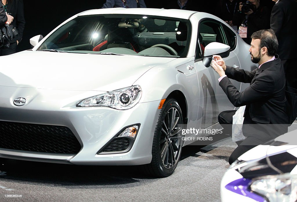 Visitor Takes Photo Of Scion New Sports Car The FRS At The North American  International Auto