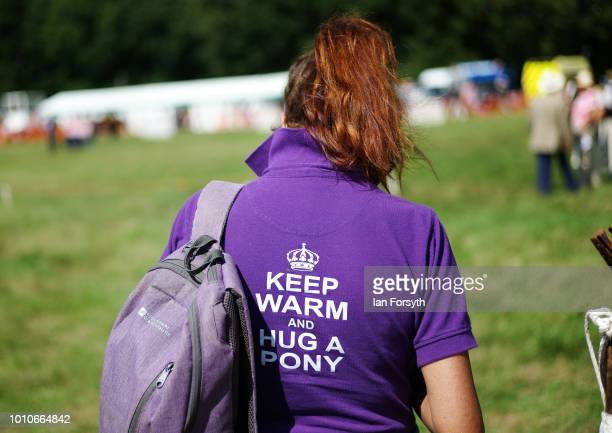 A visitor walks between the show rings during 152nd the Ryedale Country Show on July 31 2018 in Kirbymoorside England Held in Welburn Park near...