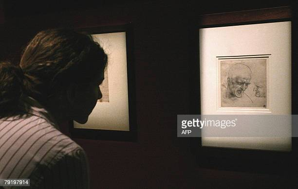 A visitor watches a drawing which is part of a largescale exhibition entitled The Splendour of MediciArt and Life in Renaissance Florence which...
