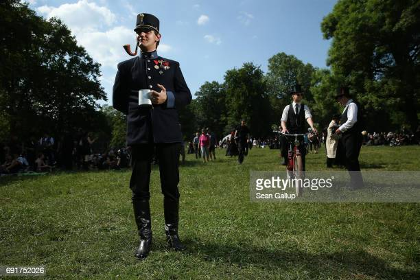 A visitor wearing what he described as the uniform of a lieutenant in the AustroHungarian Army of the early 20thcentury attends the Victorian Picnic...