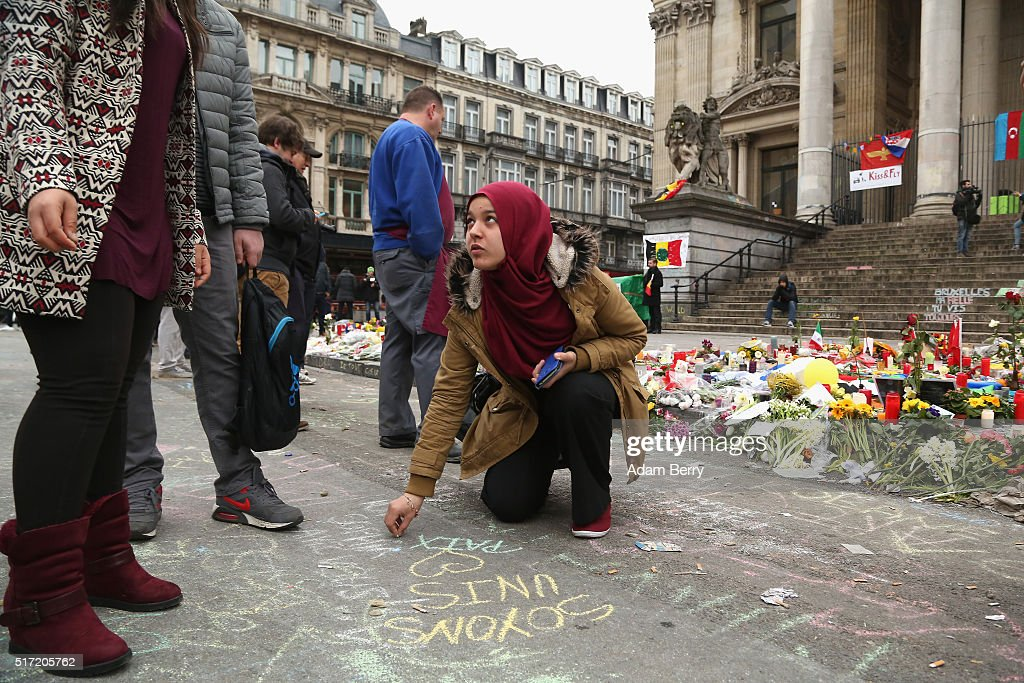 Belgium Mourns After Deadly Brussels Terror Attacks : News Photo