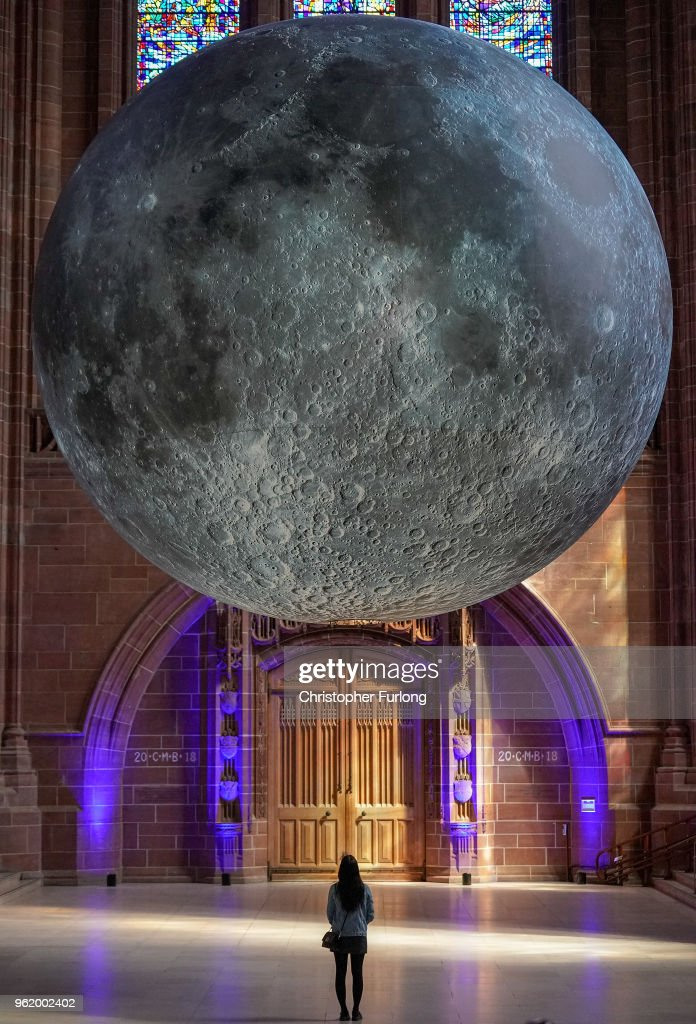 Installation Artist Hangs A 23ft Replica Of The Moon