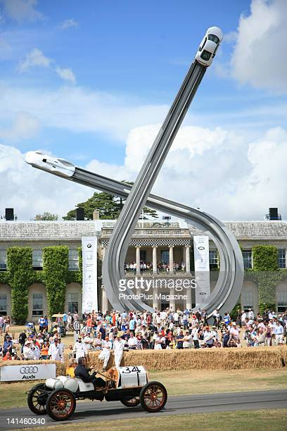 Visitors and competitors at the Goodwood Festival of Speed in West Sussex taken on July 5 2009