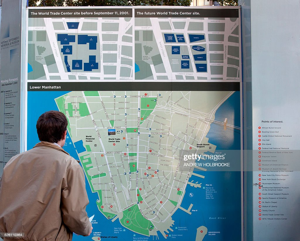 Map Of World Trade Center Before 9 11.Usa Ground Zero World Trade Center Construction Pictures Getty