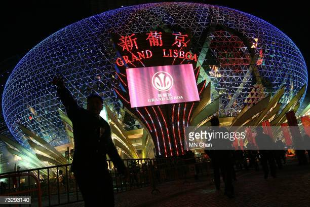 Visitors and VIP attend the official opening ceremony and VIP reception celebrating the opening of SJM's new flagship casino Grand Lisboa, on...