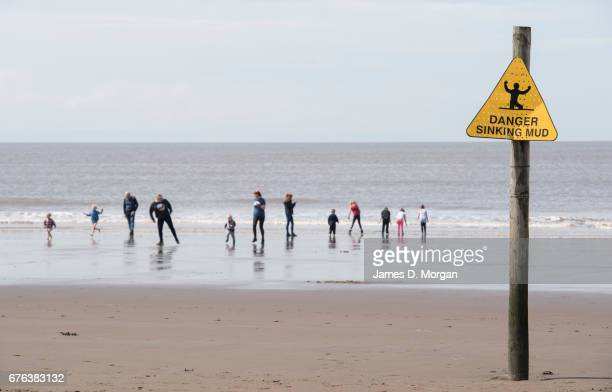 Visitors and workers enjoy the English bank holiday weekend on May 01 2017 in WestonsuperMare England UK The town of WestonSuperMare is visited by...