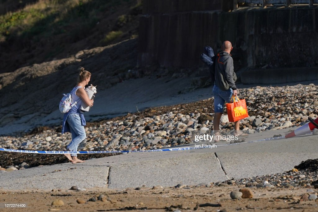 Grenade Found On Beach At Saltburn-by-Sea : News Photo
