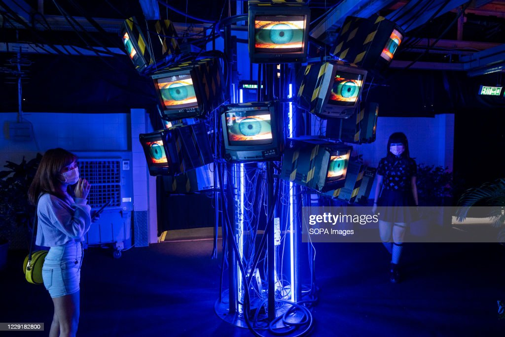 Visitors are seen at an exhibition called 'Heart of... : News Photo