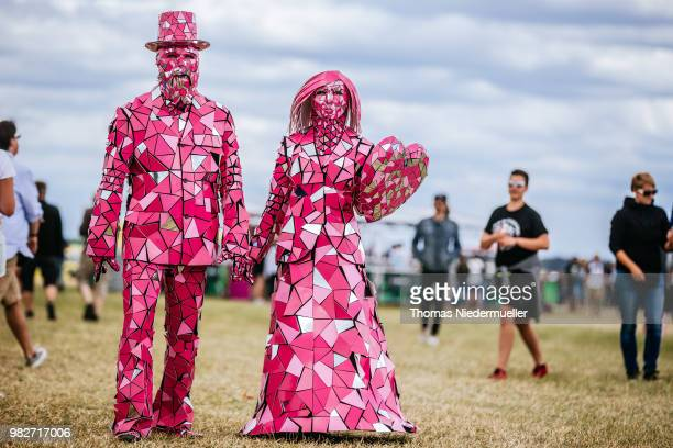 Visitors are seen during the Southside Festival on June 22 2018 in Neuhausen Germany