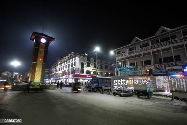 Visitors are seen walking through the Lal Chowk the main market in central Srinagar the summer capital of Indian administered Kashmir Kashmir is the...