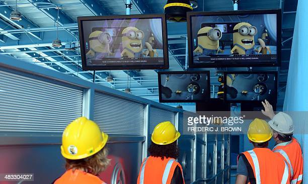 Visitors Are Taken On A Preview Inside The Despicable Me Minion