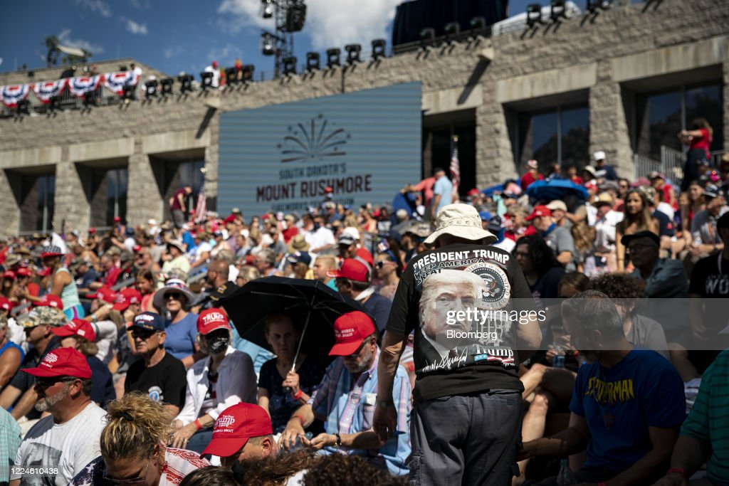 President Trump Speaks During Fourth Of July Celebrations At Mount Rushmore : News Photo