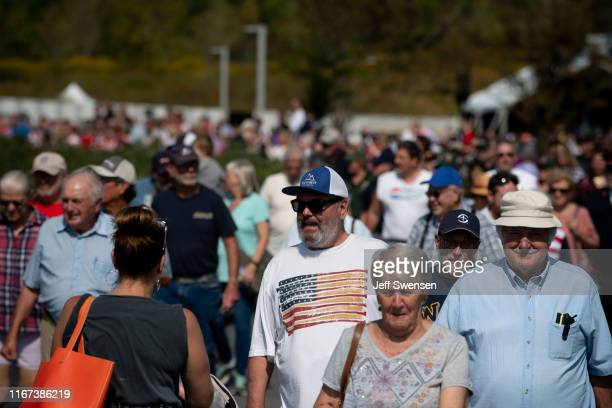 Visitors arrive at the Flight 93 National Memorial on September 11 2019 in Shanksville Pennsylvania Today marks the 18th anniversary of the September...