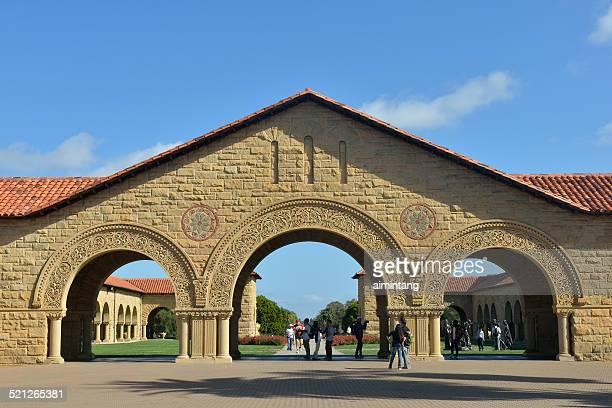 Visitors at Main Quad of Stanford University