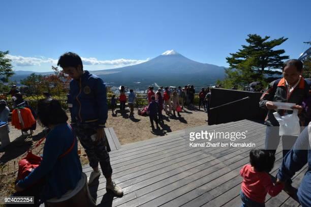 Visitors at Mt Fuji