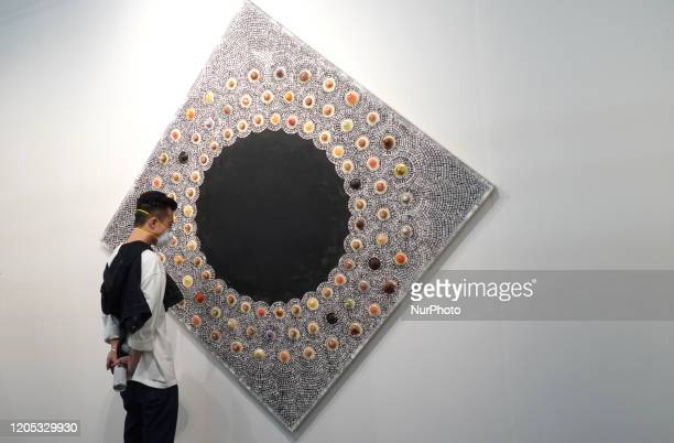 Visitors at The Armory Show 2020, an international art fair, opens its doors on March 5 for its 26th edition at the Pier 94 and 90 despite New...