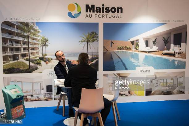 Visitors at the eighth fair of Portuguese real estate in Paris France on 17 May 2019 An operation to promote the sale of real estate to foreign...