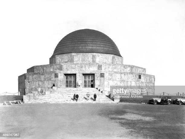 Visitors at the newly finished Adler Planetarium Chicago Illinois 1930