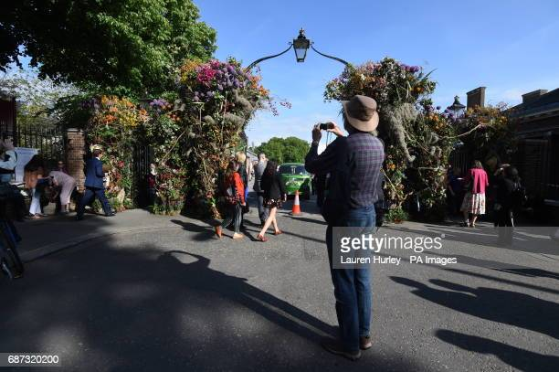 Visitors at the RHS Chelsea Flower Show at the Royal Hospital Chelsea London