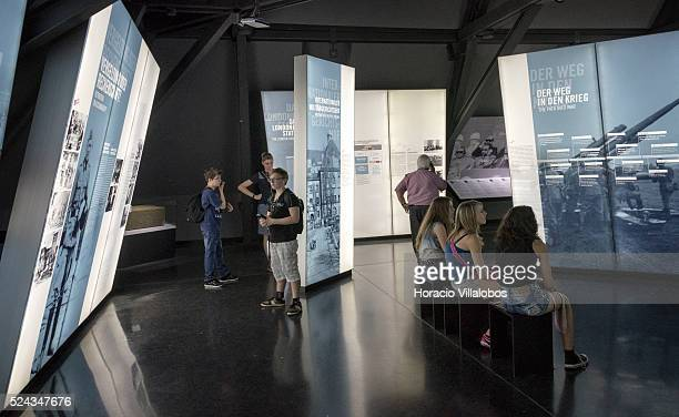 Visitors at the The Memorium Nuremberg Trials in Nuremberg Germany 04 June 2015 The memorial informs visitors about the background progression and...