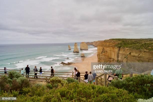 Visitors at the Twelve Apostles   Great Ocean Road   Australia