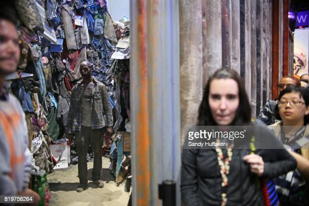 Visitors at The Walking Dead booth during Comic Con International on July 20 2017 in San Diego California Comic Con International is North America's...