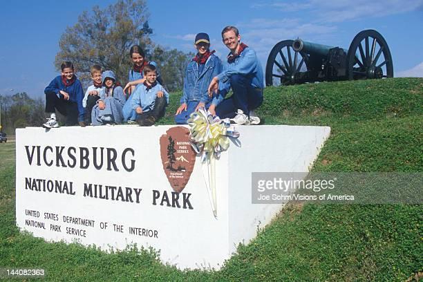 Visitors at Vicksburg National Military Park Mississippi