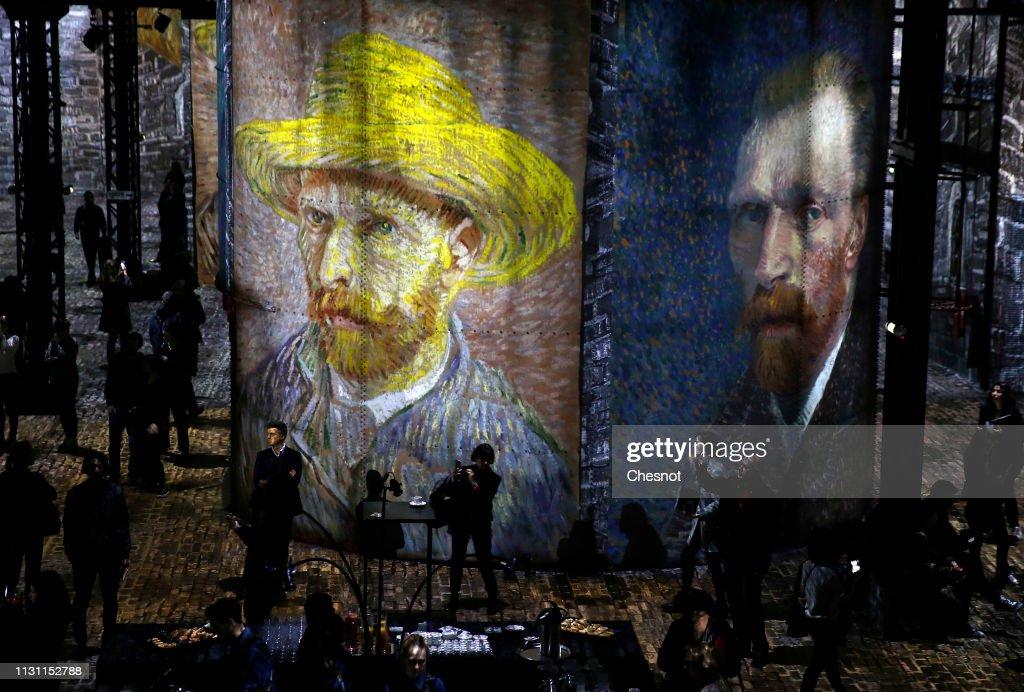 "FRA: ""Van Gogh, La Nuit Etoilee- Van Gogh, Starry Night"" : Digital Exhibition At Atelier Des Lumieres In Paris"
