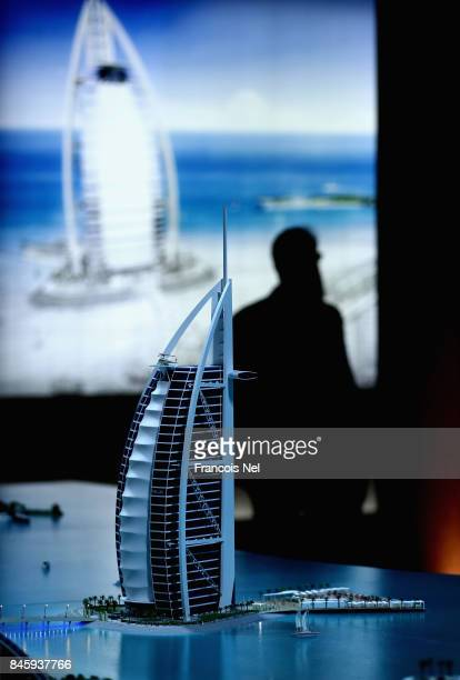 Visitors attend Cityscape Global at Dubai World Trade Centre on September 12 2017 in Dubai United Arab Emirates