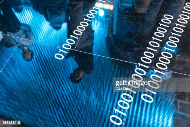 Visitors attend the 2015 Computing Conference in Hangzhou China on Wednesday Oct 14 2015 Alibaba Group Holding Ltd's bet on data technology is...