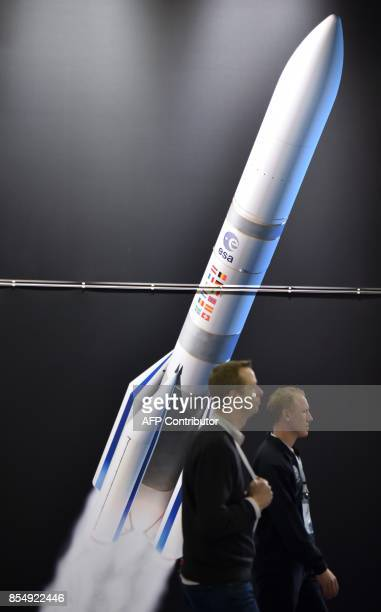 Visitors attend the 68th International Astronautical Congress 2017 in Adelaide on September 28 2017 The 68th International Astronautical Congress...