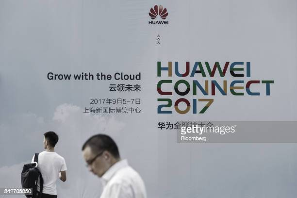 Visitors attend the Huawei Connect 2017 conference in Shanghai China on Tuesday Sept 5 2017 Huawei Technologies Co aims to establish a union of...
