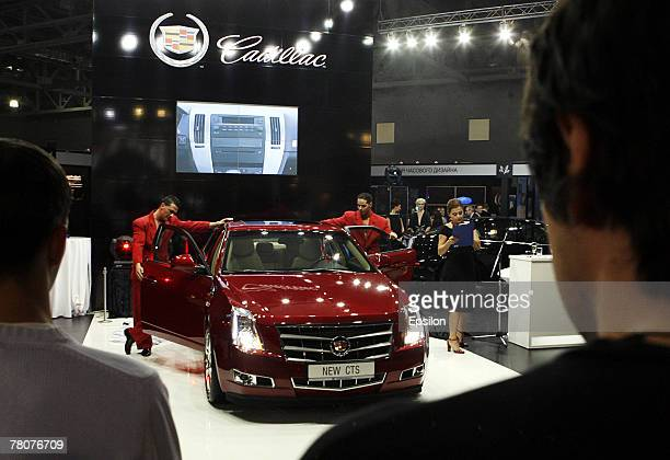Visitors attend the Millionaire Fair 2007 at Crocus Expo November 22, 2007 in Moscow, Russia. The Millionaire Fair, the world's largest exhibit of...