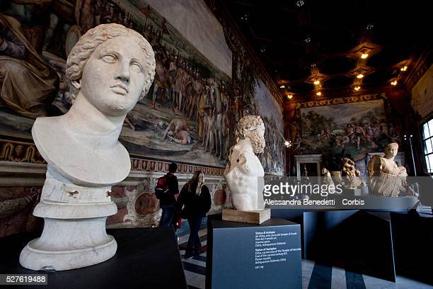 """Visitors attend the opening of a special exhibition 'L'Eta della conquista"""" """"The Edge of Conquer"""" , running from March 13 to September 5 2010,at..."""
