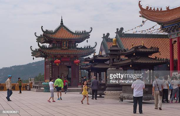 CONTENT] Visitors blessing in zhuhai jin tai temple Guangdong China