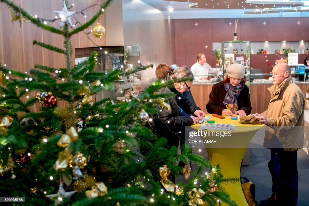 visitors buy christmas post stamps and send letters at a post office in the village of christkindl austria on december 14 2017 - Christmas Eve Post Office Hours