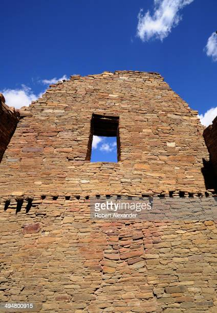 Visitors can explore the ruins of a massive stone complex at Chaco Culture National Historical Park in Northwestern New Mexico The communal stone...