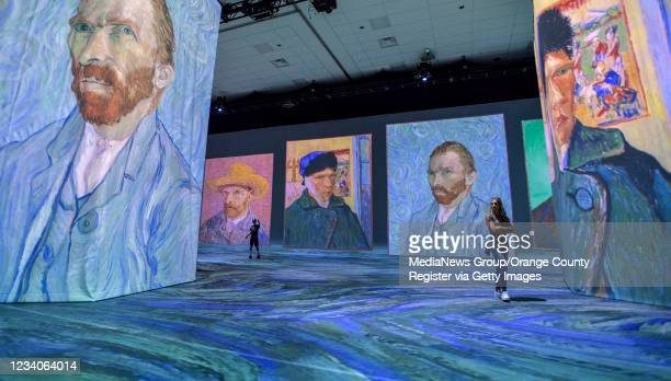 Visitors check out The Beyond Van Gogh Experience during a media preview at the Anaheim Convention Center in Anaheim, CA, on Monday, July 19, 2021....