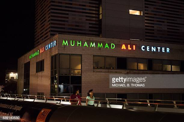 Visitors come to pay their respects at the Muhammad Ali Center on June 9, 2016 in Louisville, Kentucky. Louisville prepares to lay the boxing legend...