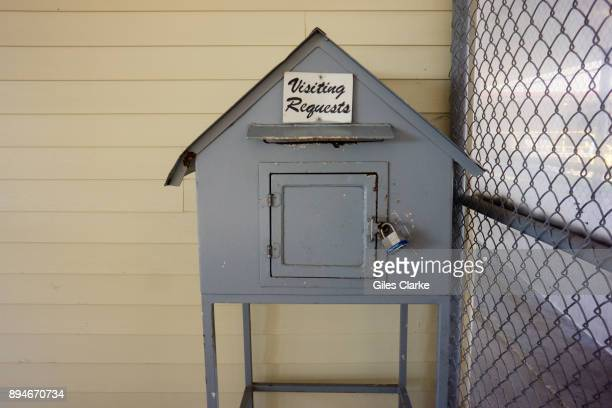 PRISON LOUISIANA OCTOBER A visitors comment box at Angola Prison The Louisiana State Penitentiary also known as Angola and nicknamed the 'Alcatraz of...