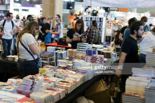 Visitors during the 17th annual Japan Expo at ParisNord Villepinte Exhibition Center on July 10 2016 in Villepinte France