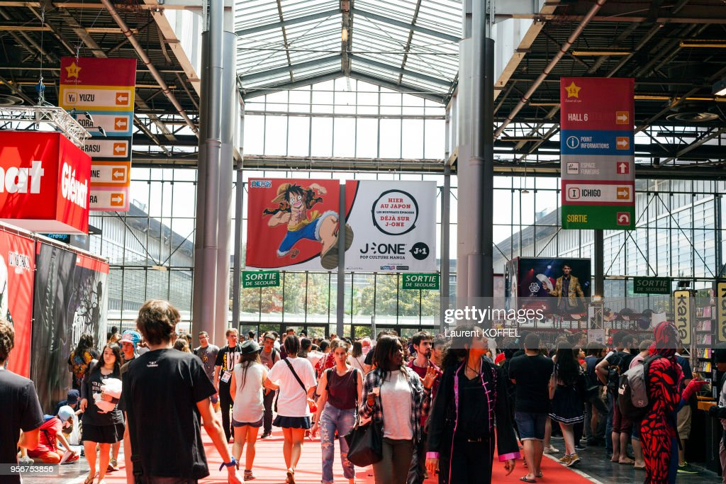 Visitors during the 17th annual Japan Expo at Paris-Nord Villepinte Exhibition Center on July 10, 2016 in Villepinte, France.