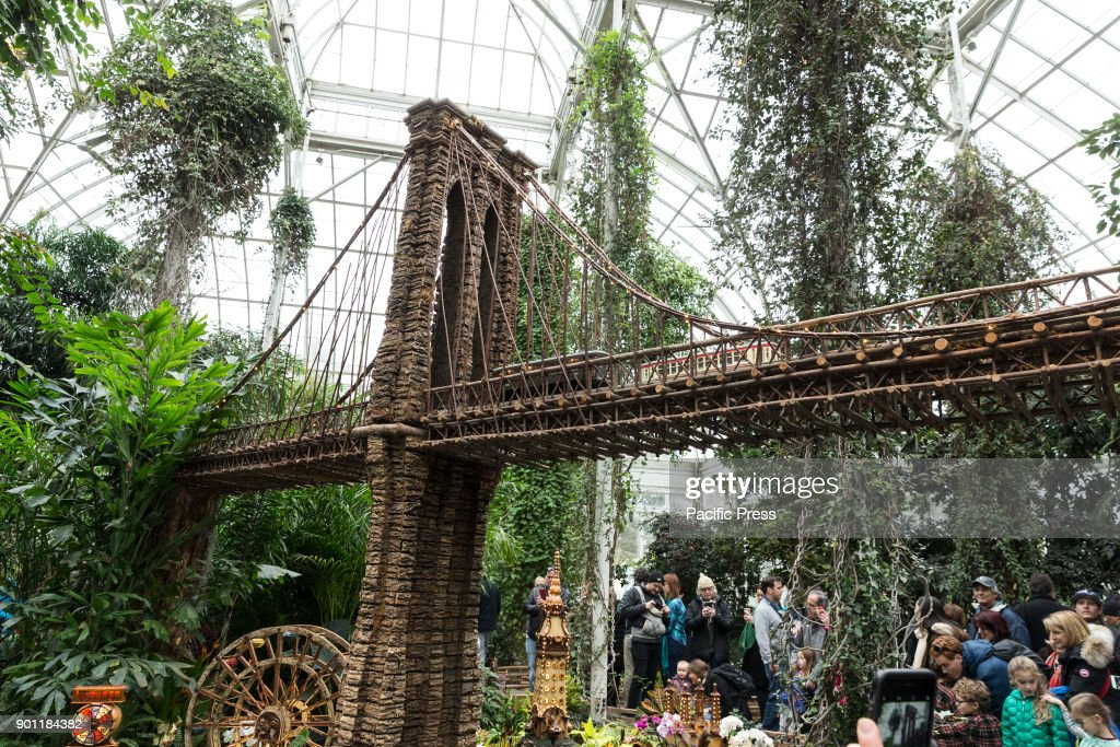 Visitors Enjoy New York Botanical Garden Holiday Train Show Created By Paul  Busse.