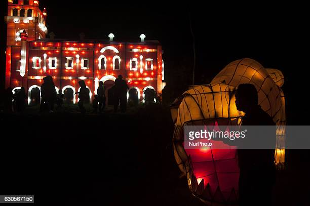 Visitors enjoyed the Festival of Lights in Kaliurang Yogyakarta Indonesia on December 26 2016 This events to attract tourists both domestic and...