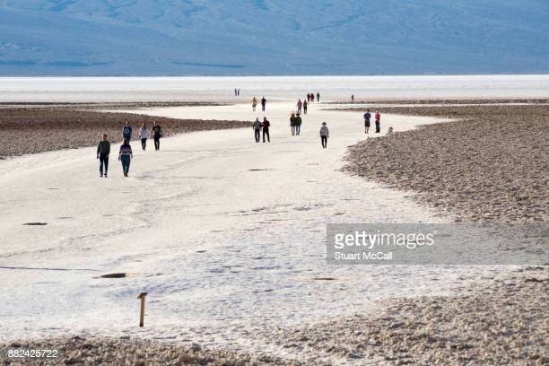 Visitors explore lowest point in North America