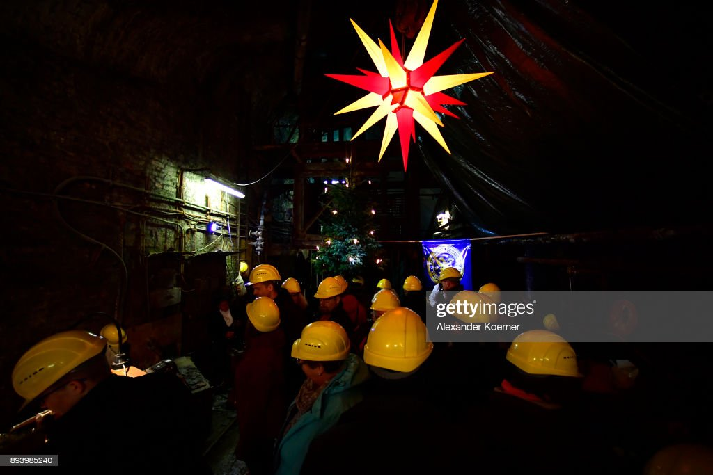 Rammelsberg Weihnachtsmarkt.Visitors Explore The Rammelsberg Mine To Stroll Among Stalls Selling