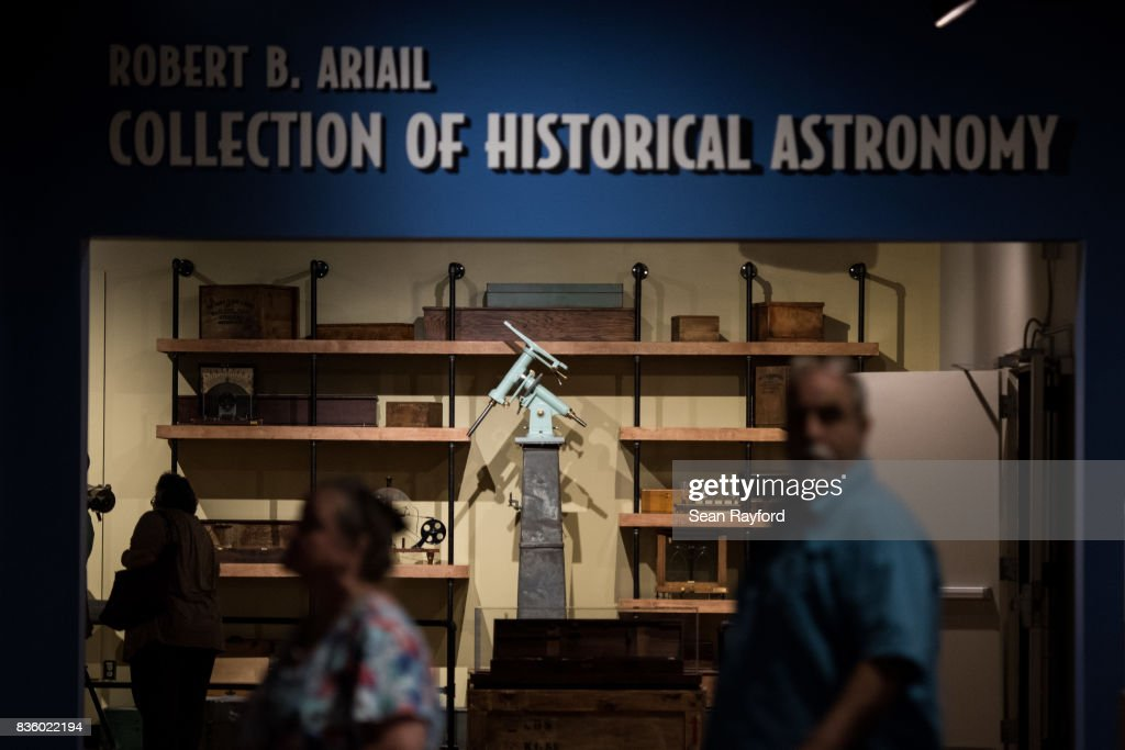 Visitors explore the South Carolina State Museum August 20, 2017 in Columbia, South Carolina. Columbia is one of the prime destinations for viewing Monday's solar eclipse and NASA expects clear weather would bring over a million visitors to the state.