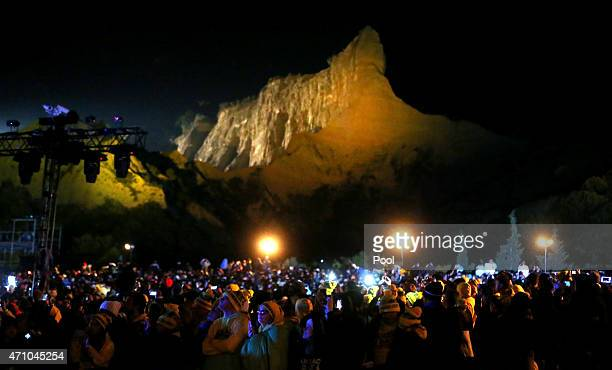 Visitors from Australia and New Zealand and around the world attend a ceremony marking the 100th anniversary of the Battle of Gallipoli, at Anzac...