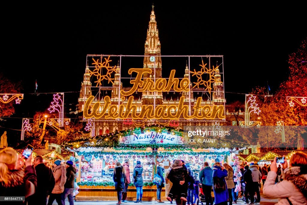 Austria's capital city hosts an iconic Viennese Christmas Market in front of City Hall.